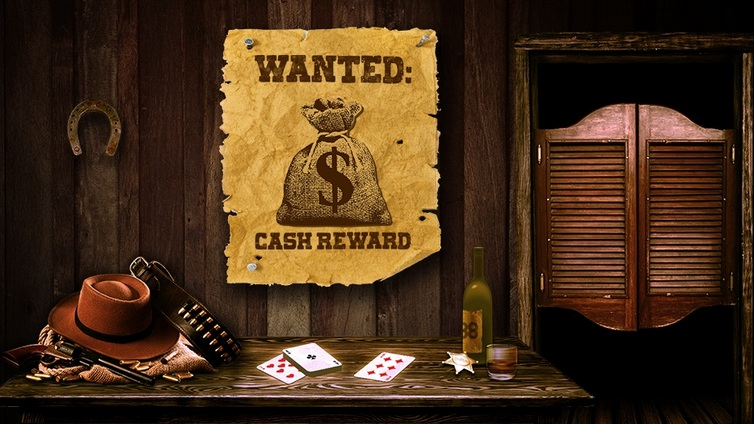 Акция Wild Hunt на 888 Покер Wanted: Cash Reward
