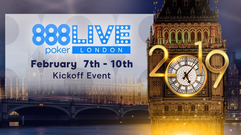 Обзор 888 Poker LIVE London 2019 Kickoff Event